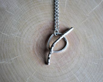 Cast Twig Sterling Silver Necklace