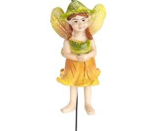 My Fairy Gardens  Mini - Pumpkin Blossom Fairy - Miniature Supplies Accessories Dollhouse