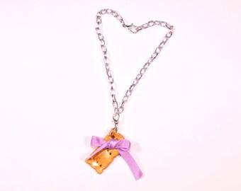 Dainty bracelet purple