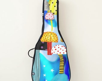 Acoustic Guitar Bag , Electric Guitar Bag or maybe only the exchangeable front panel - Choose between two drawings :D