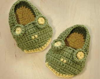 Frog Baby Booties Crochet PATTERN, SYMBOL DIAGRAM (pdf)