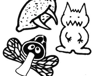 Kingdom of Loathing KOL Set of 3 Monsters Vinyl Decal Sticker