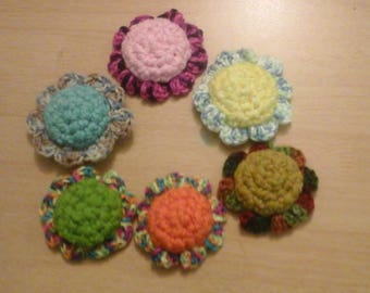 2 Crochet Flower Cat Toys Handmade Free Shippping