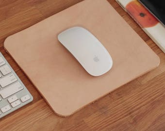 Natural Leather Mousepad, Minimalist Mouse Pad Leather, Mouse Mat, Desk, Stationary