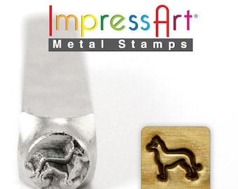 Impress Art 6mm German Shepherd Metal Design Stamp - Metal Stamp - Metal Stamping and Jewelry Tool -  SGSC156-AF-6mm
