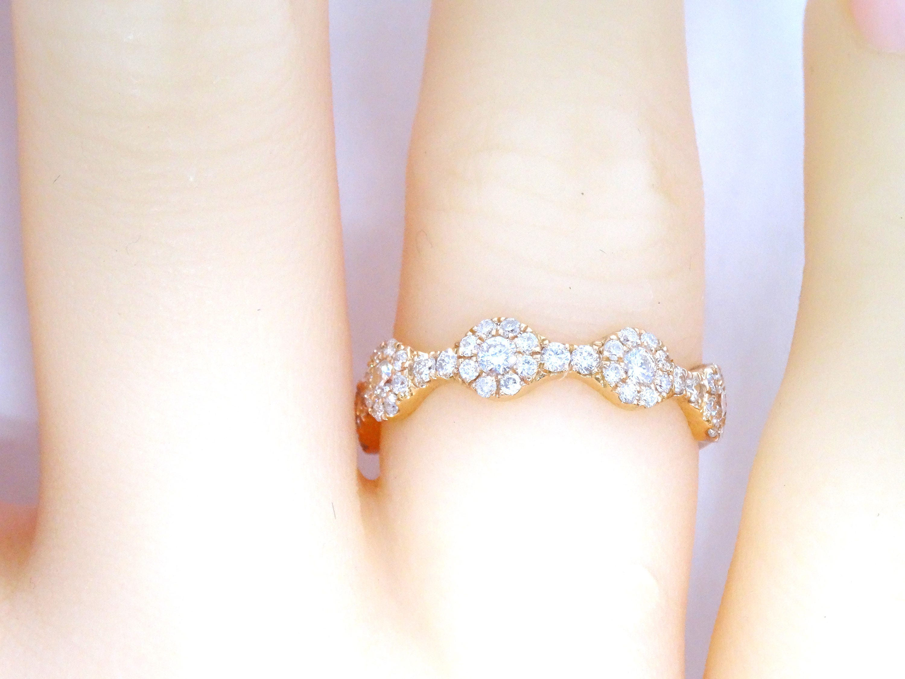 matching infinity bands pin ring rose band opal eternity pave gold wedding half
