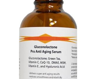 Pro anti Aging Serum with Gluconolactone and Hyaluronic Acid 2.3 oz