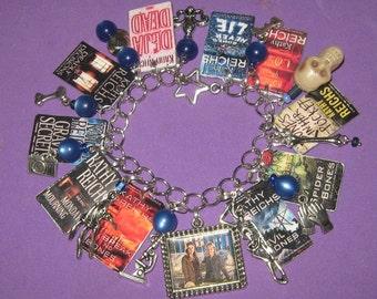 Temperance Brennan Novels-Altered Art Charm Bracelet