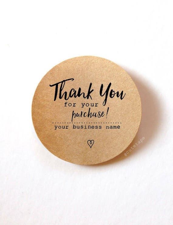 Thank You For Your Business Stickers