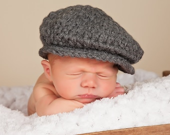 Baby Boy Irish Donegal Cap Baby Boy Hat Donegal Baby Hat Charcoal Gray Tweed Wool Photography Prop Driving Hat Baby Newsboy Flat Cap Golf