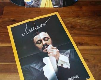 Luciano Pavarotti Bravo Vintage Vinyl Double Album & Poster