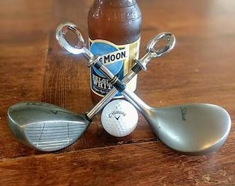 Golf Club Beer Bottle Opener. Groomsmen golf gift for fathers day Golf Gift for the Beer lover Golf Lover Gift for Best Man Wedding gift