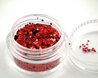 ❤ 1 SACHET 10 gr sequin 1 mm red iridescent ❤