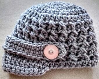 Crochet newsboy hat - Newborn