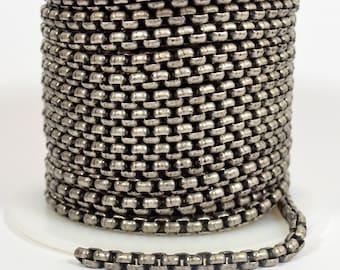 Venetian Chain - Antique Silver - CH120 - Choose Your Length