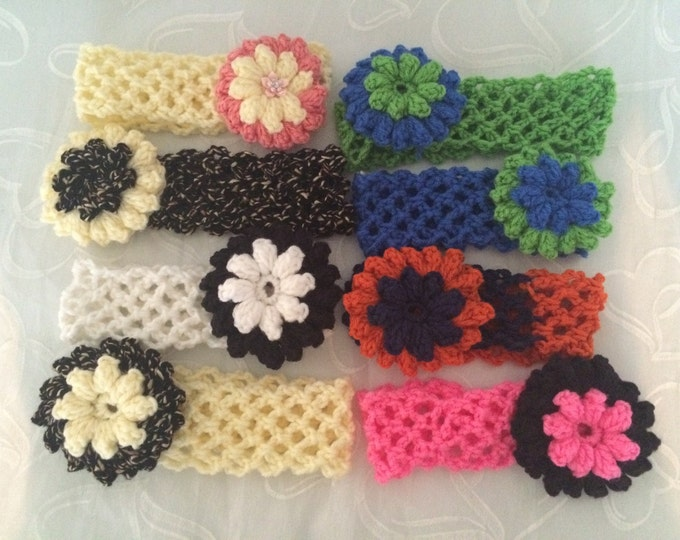 Crocheted Stretchy Headbands in lots of styles