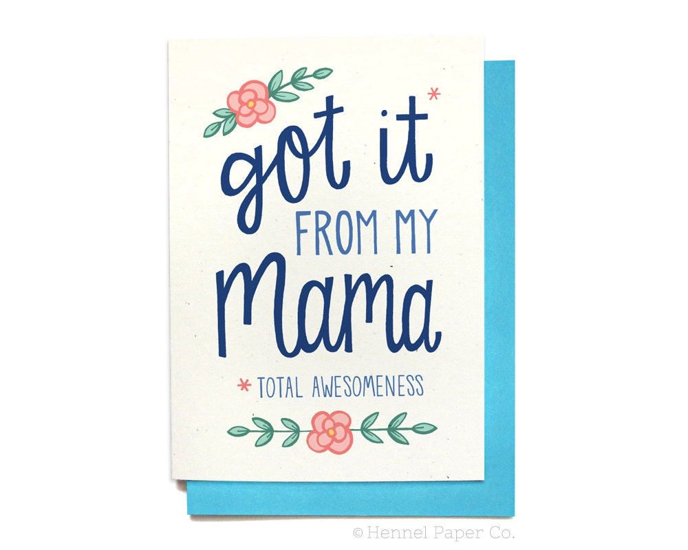 Funny Mom Birthday Card Mom Birthday Card Funny Mom