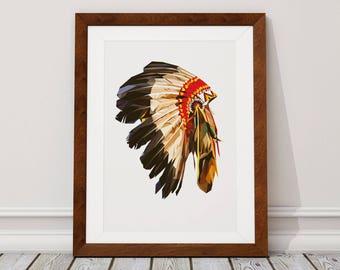 American Indian Digital Download, American Indian Digital Print, American Indian, Indian, Digital Download, Digital Print