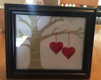 "8""x10"" Valentine's Day Tree with ""Your"" Song and Names"