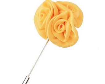 Yellow Lapel Flower Boyfriend Gift Men's Gift Anniversary Gift for Men Husband Gift Wedding Gift For Him Groomsmen Gift for Friend Gift Idea