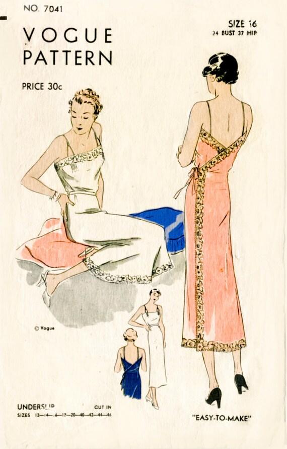 1930er Jahren 30er Jahre Vintage Dessous Schnittmuster Spitze