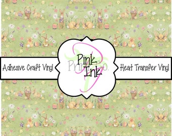 Easter Printed Vinyl, Easter Patterned Craft Vinyl and Heat Transfer Vinyl Pattern 657