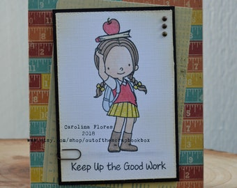 Student, Handmade Greeting Cards, Handmade Cards, Congratulation, Best Student, Appreciation Greeting Cards, Gift For Her, Books