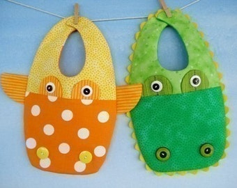 SALE - PDF ePattern for Giraffe and Gator Bibs