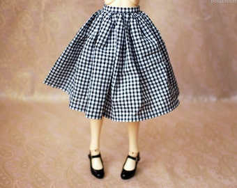 SD13 Black And White Gingham Skirt For BJD - Last One