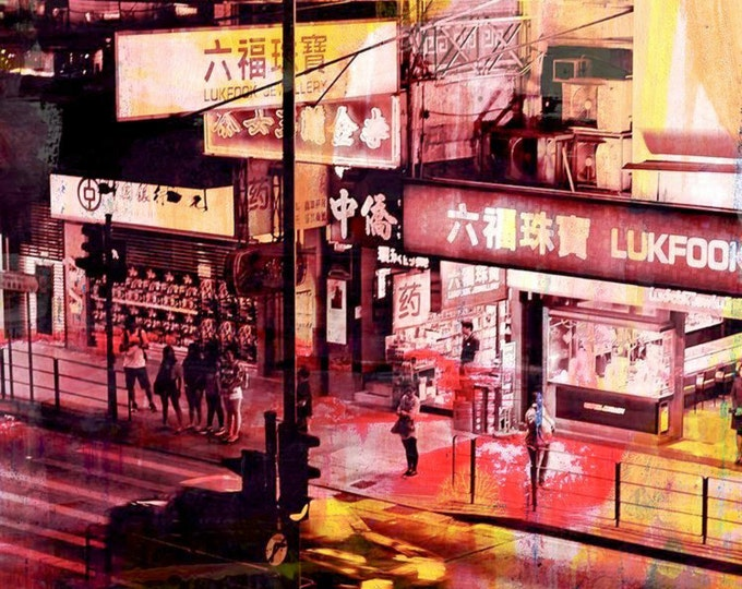 HONG KONG Streets I by Sven Pfrommer - Artwork is ready to hang