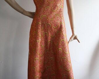 Vintage 1960s JEAN ALLEN Maxi Dress UK10-12