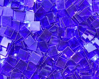 Royal Blue Stained Glass Mosaic Tiles