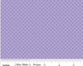 Lilac Kisses from Riley Blake's Kisses Collection by Doodlebug Designs