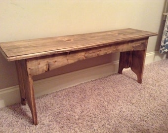 Rustic Bench / Entryway Bench / Distressed Wood Bench / Mudroom Bench / Antique Bench / Pine Bench/ Vintage Bench / Stained Bench