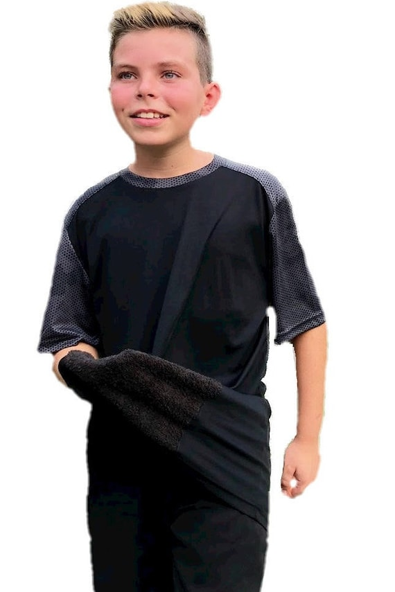 Sweaty Tee, Style 1, attached front panel, children's tees