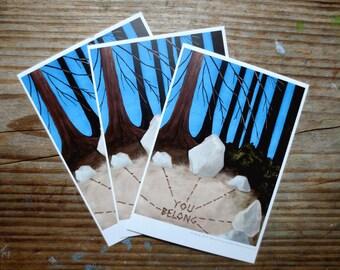 You Belong Postcard