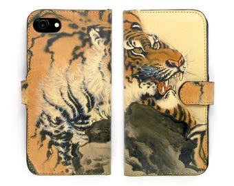 Leather 8 iPhone case, Galaxy S8 Case, iPhone 7 Case,iPhone X Case, iPhone 7 Plus Case / Tiger Tattoo - Tiger Tiger