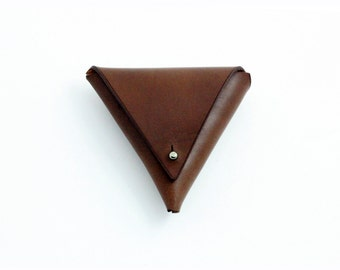 Chestnut Leather Coin Purse