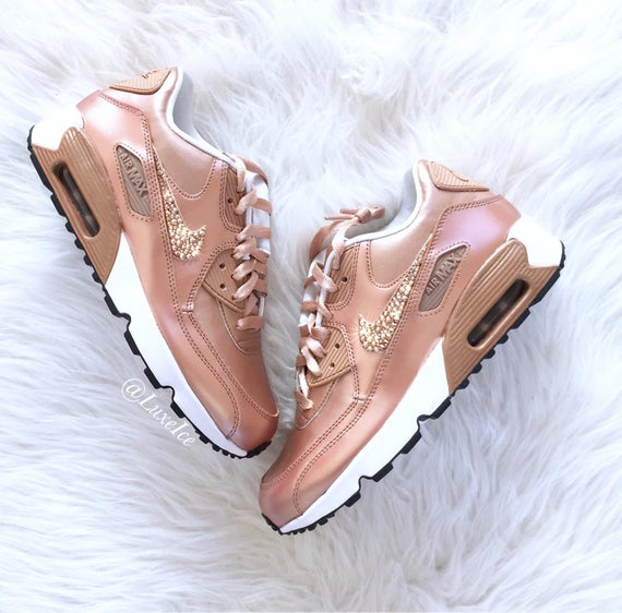 83bd44f7458ab order crystal nike air max 90s in rose gold 24e73 7128d
