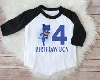 Pj mask birthday shirt, catboy birthday shirt, pj mask birthday party, pj mask shirt, personalized catboy shirt, pj mask party, catboy shirt