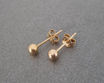750 18 k gold plated Stud ball earrings