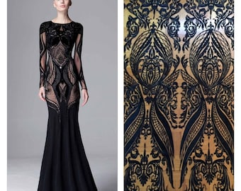 Black Lace Fabric, Black Lace, Lace Material, Embroidered Lace, Embroidered Tulle, Black Lace Material, Lace Fabric