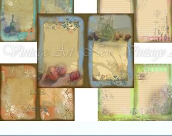 Journal Digital Kit-Still Life- Ornamented paper printable.