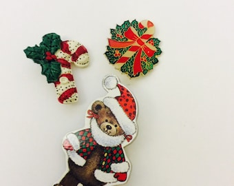 Vintage american greetings pocket card pin grandparents christmas pin collection holiday scatter pins wooden teddy bear brooch wreath enamel gold tone metal ceramic m4hsunfo Choice Image