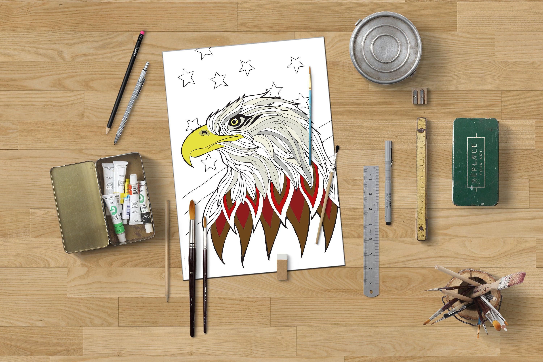 American Eagle Färbung patriotische Färbung Adler