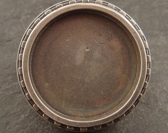 Round Sterling Silver Bezel-- ideal for polymer and resin work