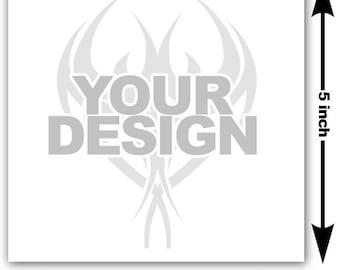 5x5 inch Image or logo as custom temporary tattoo - upload design or photo & we create customized temp fake tattoos - Personalized