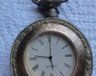 Large Fake Junk Jewerly Pocket Watch