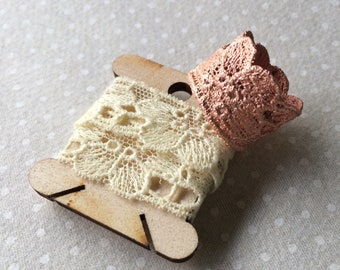 Handmade Vintage Floral Lace Ring in Copper Electroformed Electroforming - Pattern 1