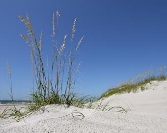 Beach Art Print, Nature Photography Blue Summer Decor Beach Decor Coastal Wall Art Coastal Decor Wall Decor Sand Dune